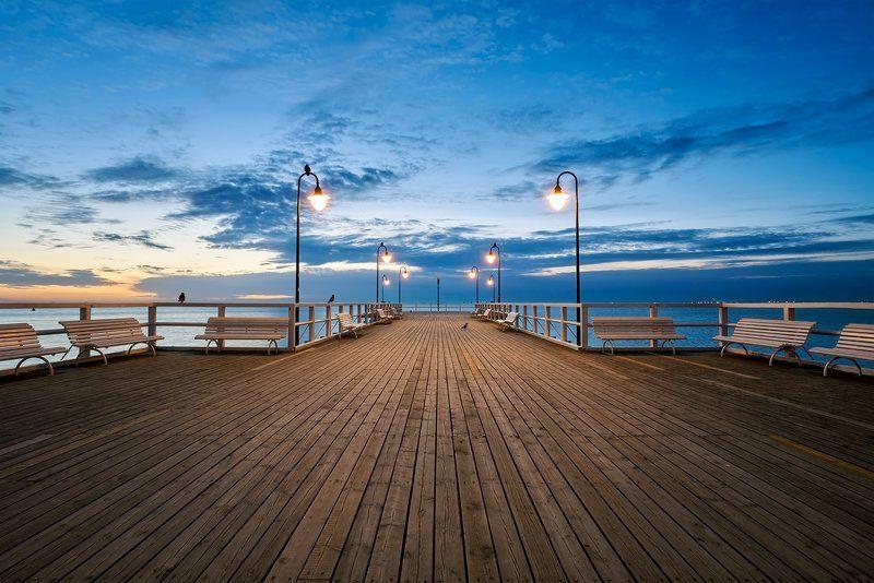 orłowo, landscapes, pier,  Morning at Orłowophoto preview