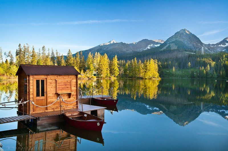 reflection, tatry, tatra, mountains, slovakia, strbske pleso, pleso, sunrise, colours, light Reflectionphoto preview