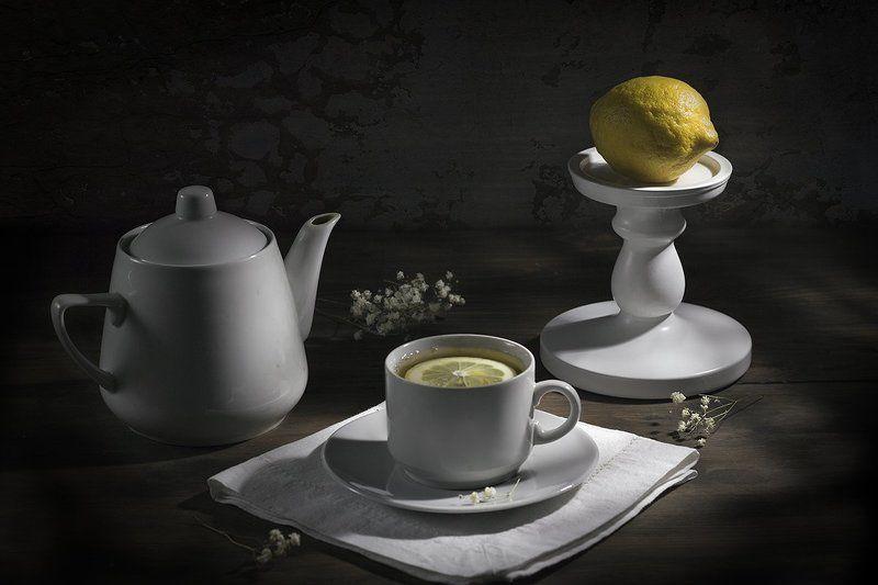 Чай с лимоном...photo preview