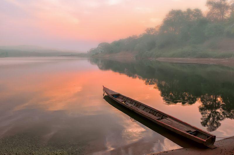 путешествие,пейзаж,рассвет,таиланд,лаос,пастель, Этот загадочный Исан.photo preview
