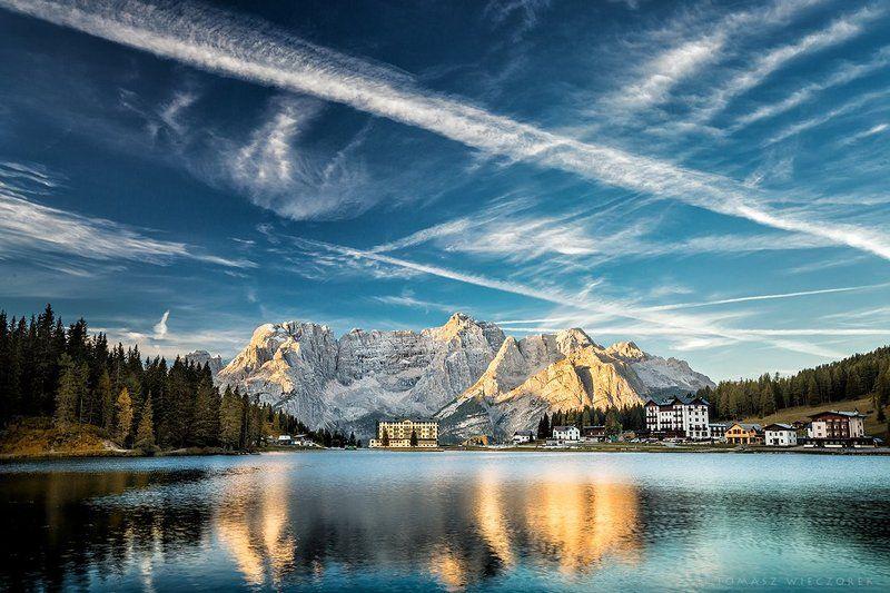 dolomiti, dolomities, italy, italia, lago, misurina, lago di misurina, summer, reflection, sunrise, light Lago di Misurinaphoto preview