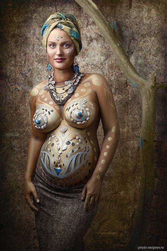 боди-арт, фото-арт, беременность, женщина, материнство ***photo preview