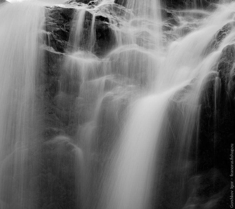 водопад,вода,струи,кавказ,чёрно-белое,чб,камни,горы,природа Водопадphoto preview