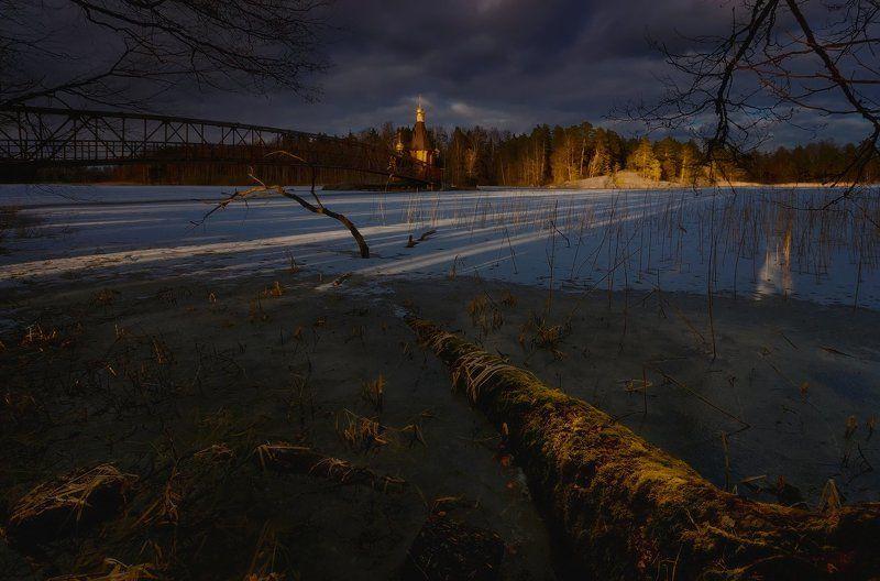 питер, апрель, вуокса, церковь Мосты в забвение....photo preview