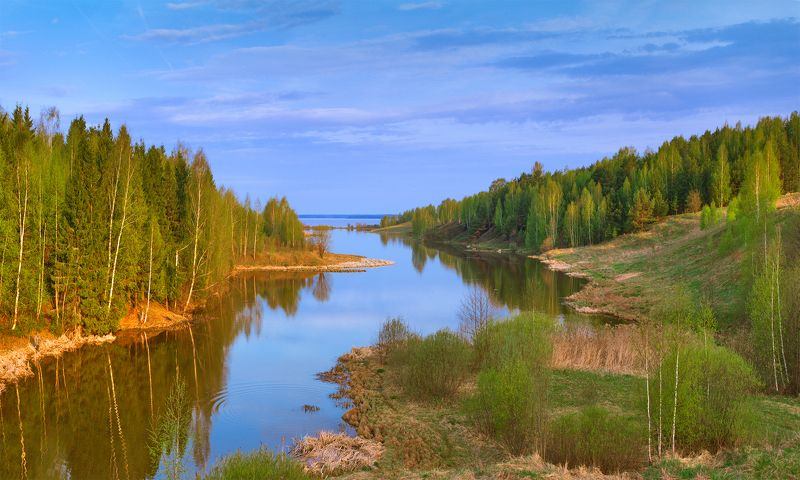 пучеж чабышевка пейзаж весна река панорама Будет и на нашей улице весна!photo preview