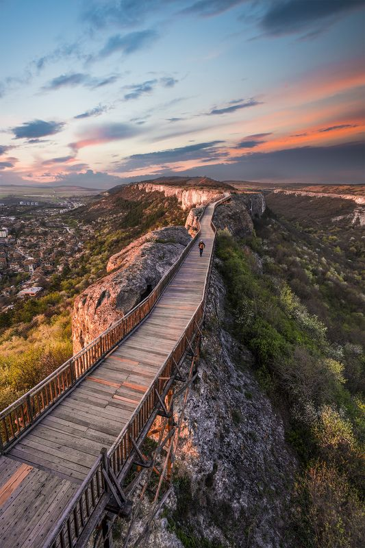 sunset, spring,fortress,nature, landscape, town To the horizonphoto preview