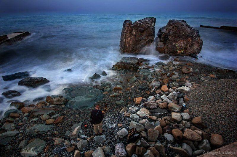 россия, крым, алушта, горы, демерджи, море Камень преткновения ...фотографаphoto preview