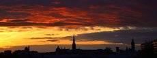 Leipzig, Sonnenuntergang