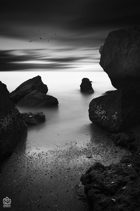 air,sky,fog,nature,sea,landscape,fineart,photography,canon,canon80d,canonphotography,life,live,longexposure,light,calm Rock And Water IIphoto preview