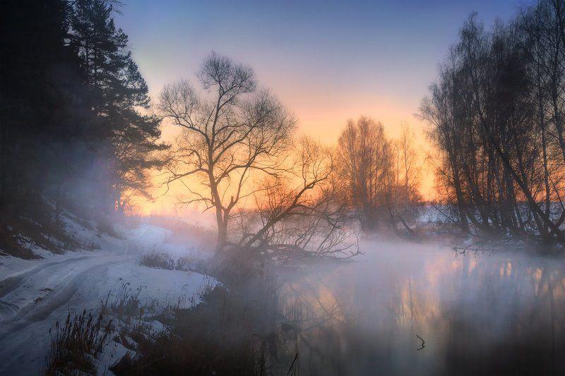 рассвет, река, дымка, Про тихий рассветphoto preview