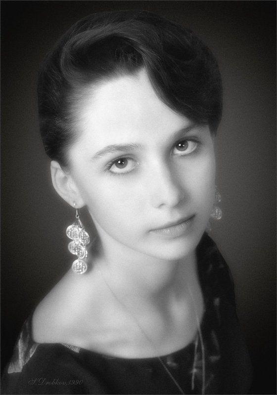 портрет, ч/б, плёнка Ольгаphoto preview