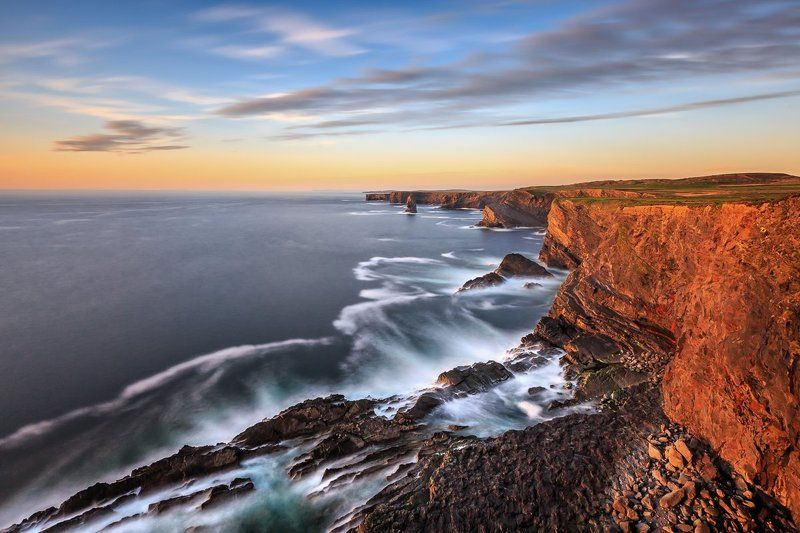 Kilkee Cliffs, Cliffs of Moher, Clare, Galway, longexposure, long exposure, seascapes, landscapes, Ireland, Lee, Clouds, Hitech Kilkee Cliffsphoto preview