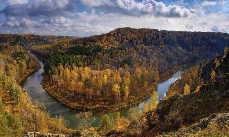 сибирь, река, бердь, скалы, осень, бердские скалы, вода Бердьphoto preview