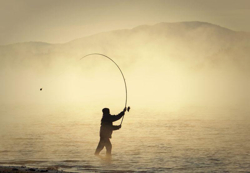 болгария, пейзаж, озеро, восход солнца, туман, landscape, fishing, carp, autumn,people, casting, sunrise Fishingphoto preview