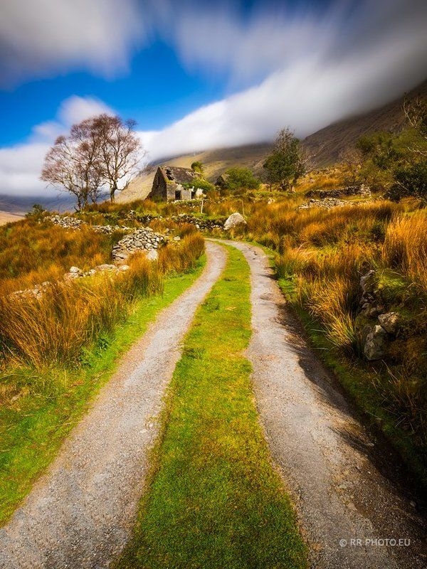 ireland, landscape, kerry, mountains, road, long exposure,  Black Valleyphoto preview