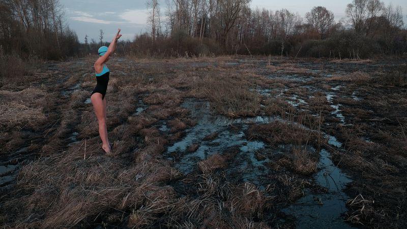 girl, nature, swim, ufa, russia, bashkortostan ***photo preview