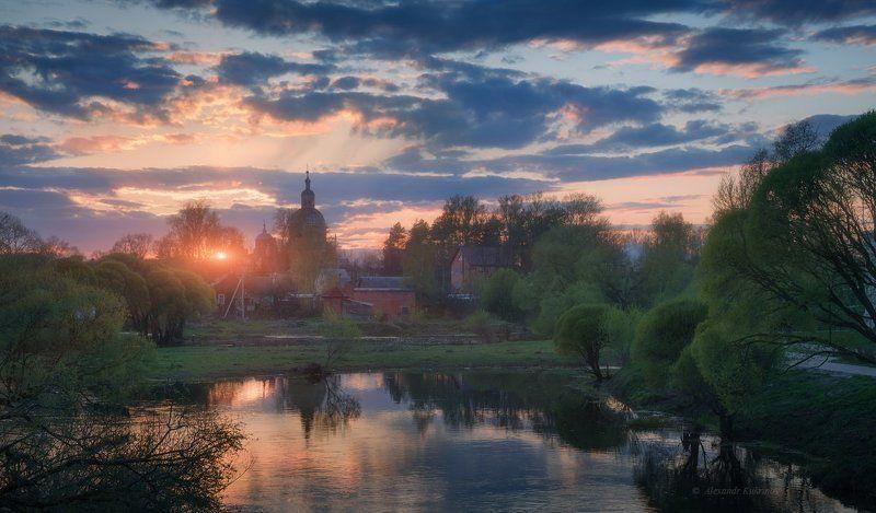 закат, пейзаж, вязьма Майский вечер в Российской глубинке...photo preview