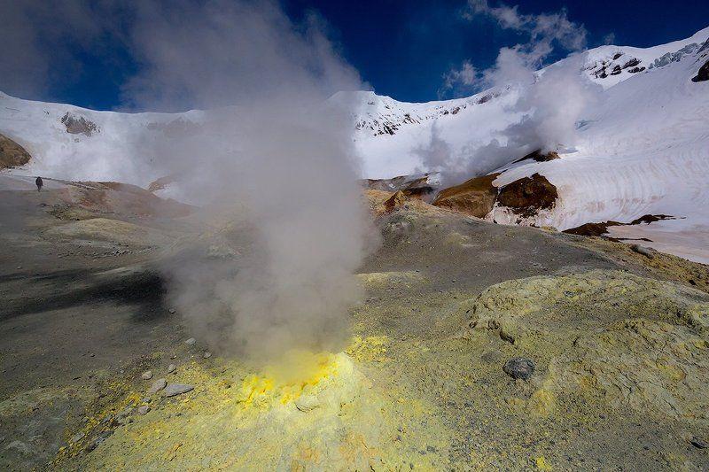 Камчатка, весна, природа, путешествие, вулкан,  Дыхание Землиphoto preview