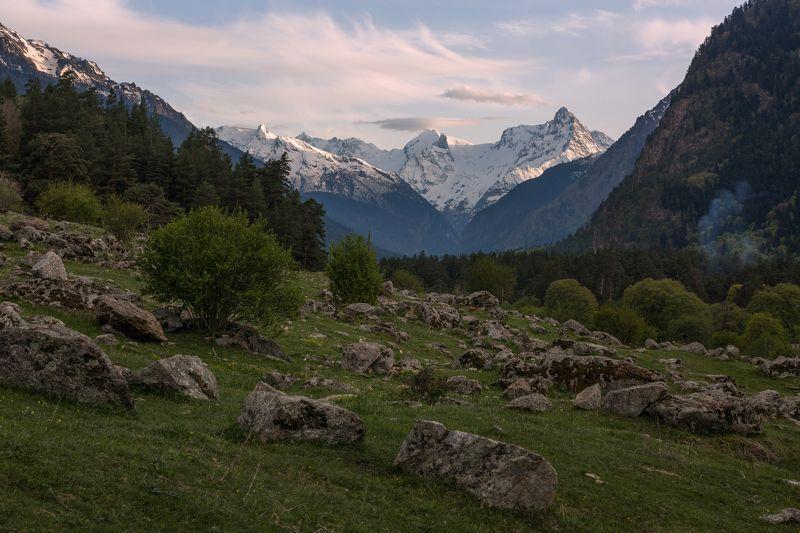 кчр,карачаево-черкесия,горы ,теберда,тебердинский заповедник Вечер в Теберде ...photo preview
