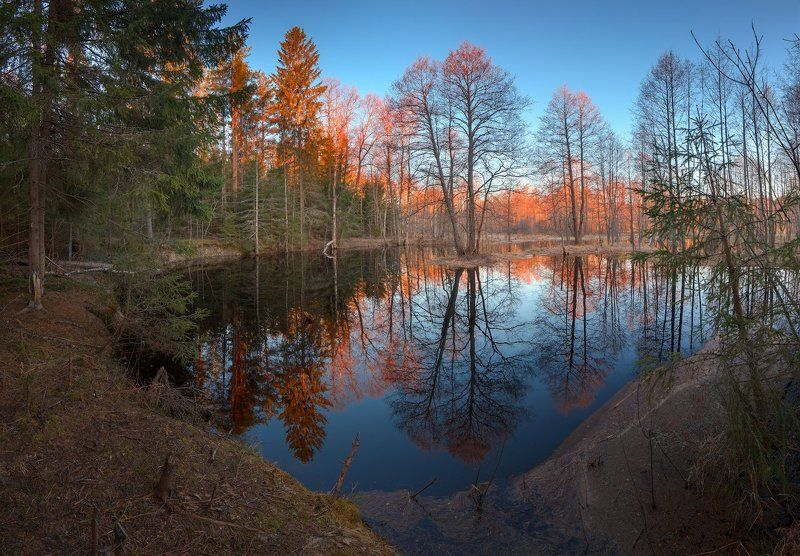 Красный рассвет на Кисовкеphoto preview
