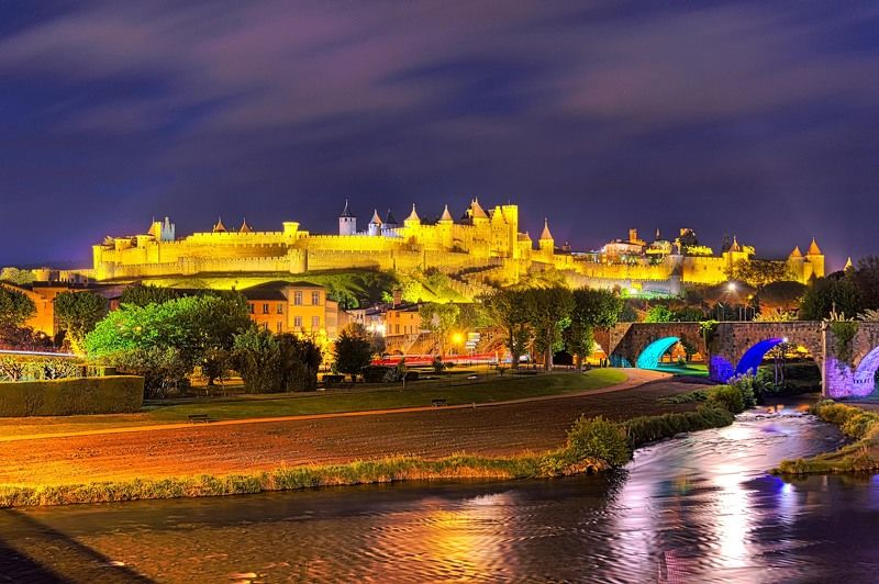 carcassonne, fortress, france, город- крепость, каркасон. Carcassonne.photo preview