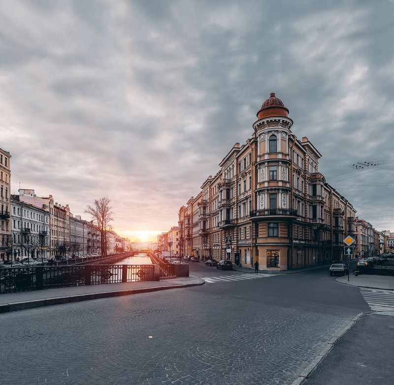 spring, russia, snow, спб, весна, снег, city, sky, небо, город, архитектура Закатphoto preview
