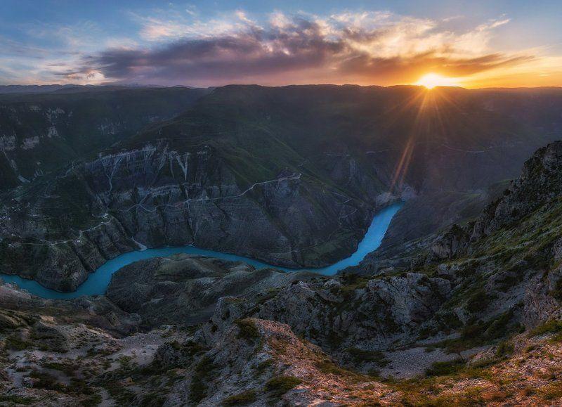 дагестан, сулакский каньон Сулакский каньон на закате.photo preview