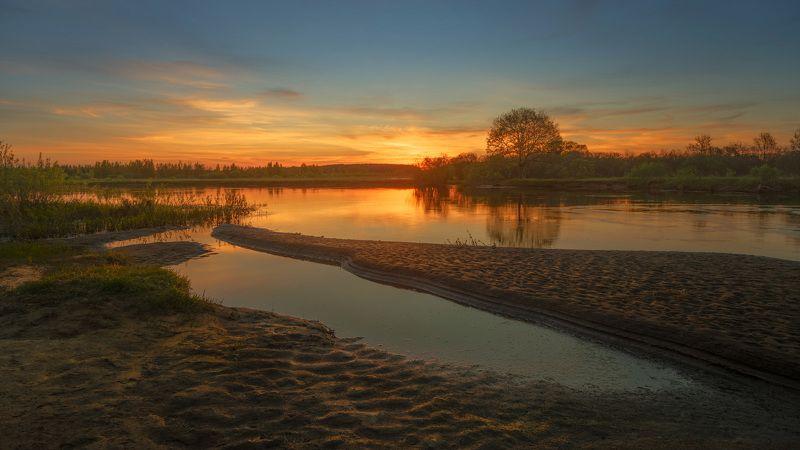 Березина, река, берега, закат, весна На берегах реки Березиныphoto preview