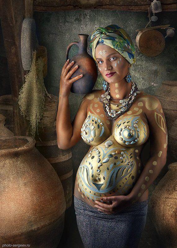 женщина,кувшин, жизнь,беременность,арт,фото-арт,ню-арт Сосуд жизниphoto preview