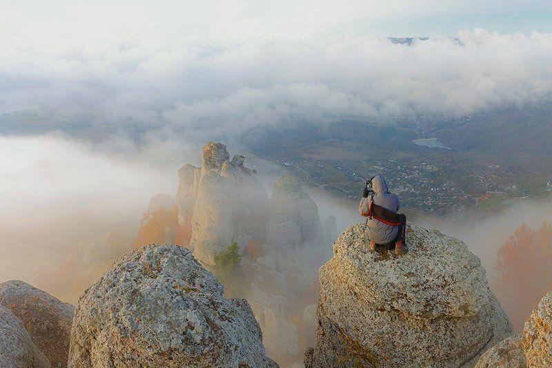 крым, демирджи, горы, пейзаж, фотограф, небо, облака, Точка съемки...photo preview