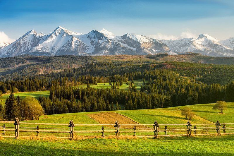 sunrise, spring, poland, tatras, tatry, mountains, colours, light, peaks, morning, snow, afternoon, sunset Spring in Tatra Mountainsphoto preview