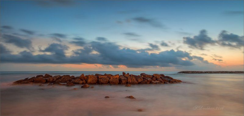 рассвет, море, небо, облака, камни Цветные сныphoto preview