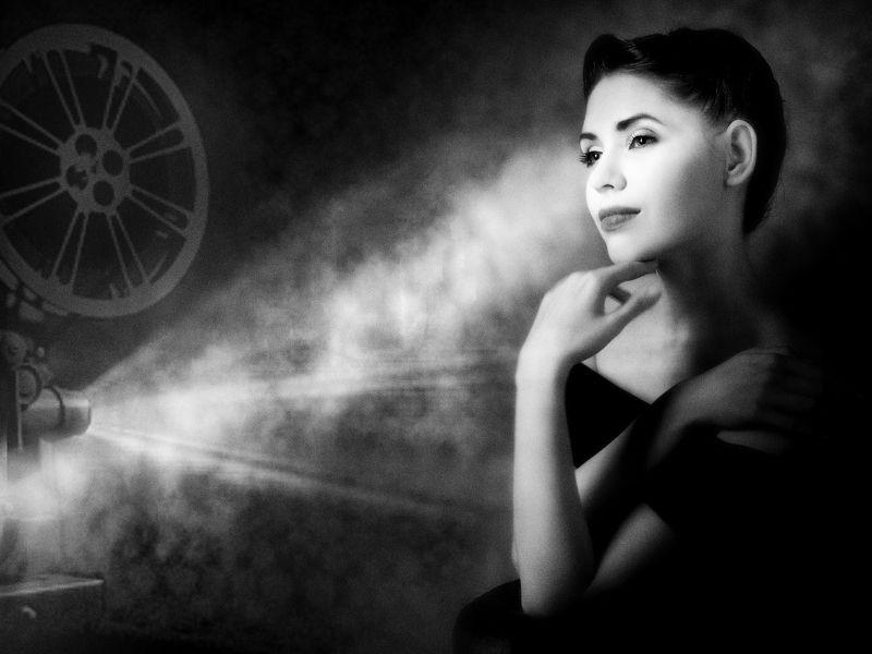 портрет ; ч/б Про черно-белое кино...photo preview