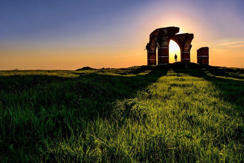 вечер, закат, рязань Портал (или Рязанский Стоунхэндж)photo preview