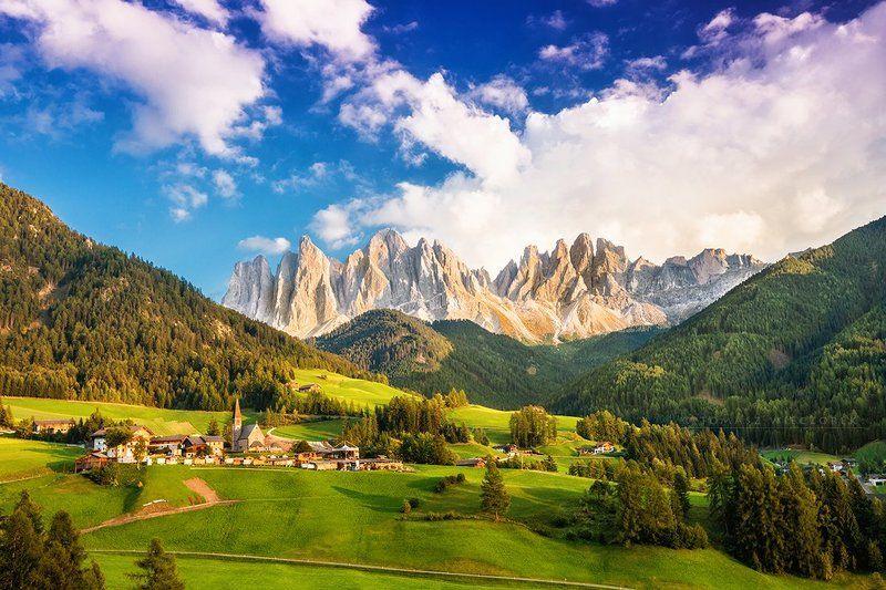 dolomiti, dolomities, italy, italia, summer, sunset, light, val di funes, funes, santa, magdalena, santa magdalena, mountains, alps Val di Funesphoto preview