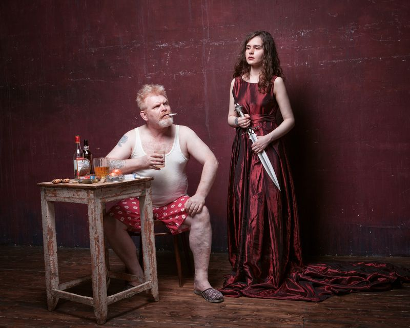 олоферн юдифь портрет красный Юрьич: Страсти по Олофернуphoto preview