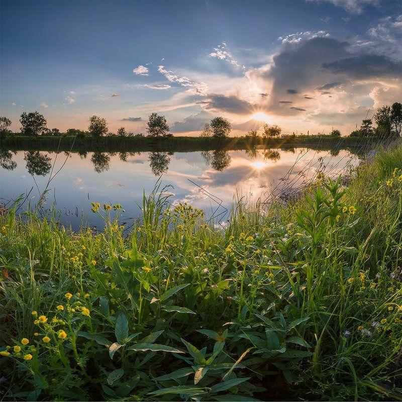 май вечер пруд закат к дождю Видно быть дождюphoto preview