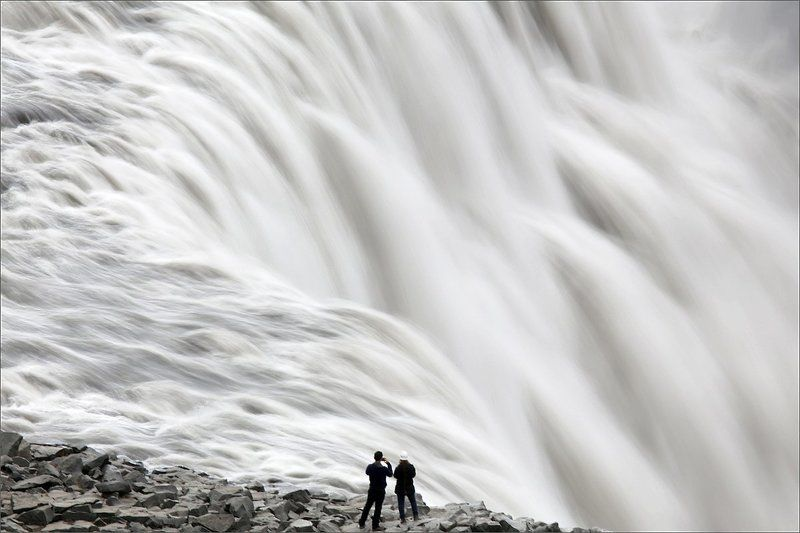 dettifoss, исландия, водопад У водыphoto preview