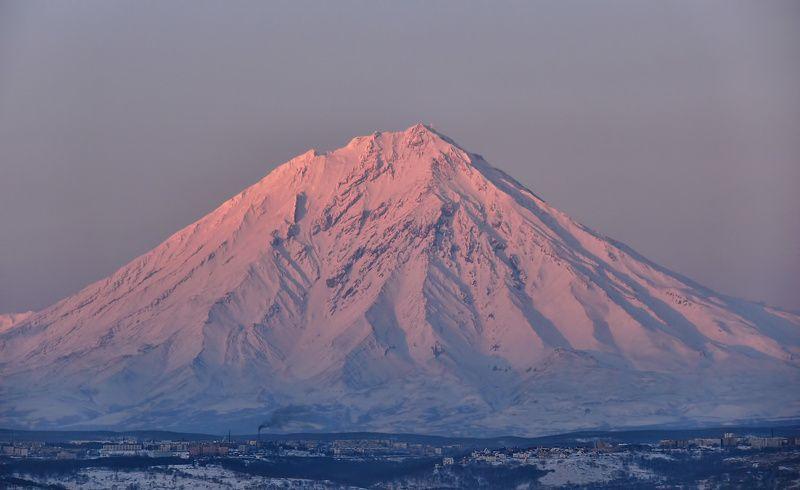 камчатка, корякский вулкан, зима, утро, рейд утреннее пробуждениеphoto preview