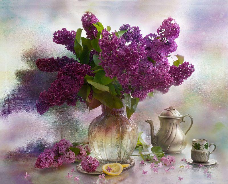 цветы, сирень, букет, Из серии \