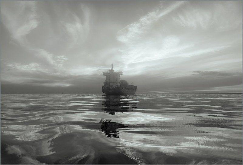 Финский залив. Внешний рейд. На внешнем рейде.photo preview