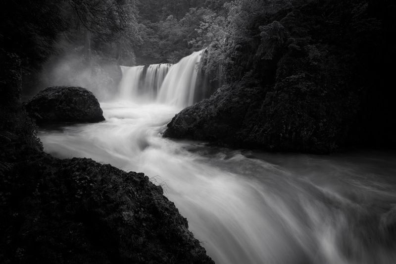waterfall Spirit in the Darkphoto preview