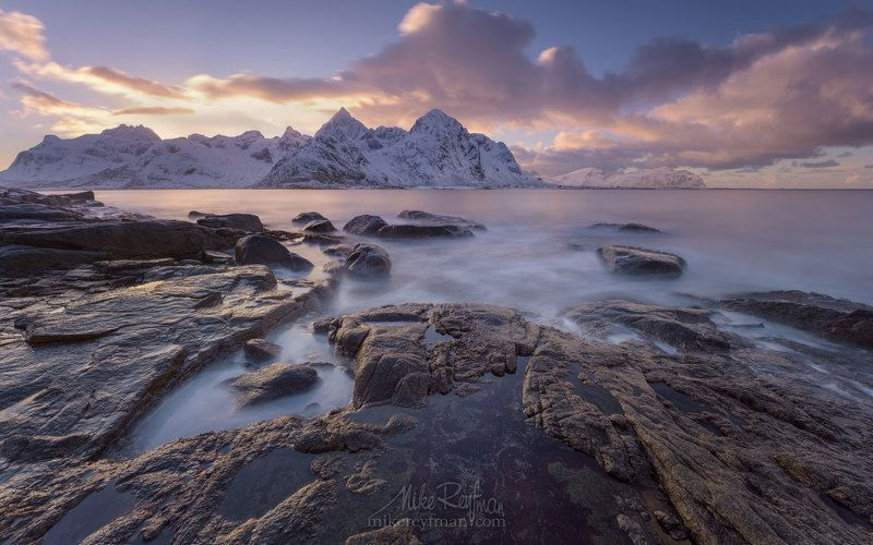 arctic coast; europe; fjord; landscape; light; lofoten archipelago; mountain; nature; nordic; nordland; north; norway; norwegian; ocean; outdoors; peaks; picturesque; rorbu; rorbuer; scandinavia; scenery; scenic; sea; sky; snowscape; water; weather; winte Colors of Arcticphoto preview