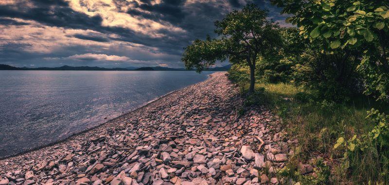 панорама, лето, берег, море, камни ***photo preview