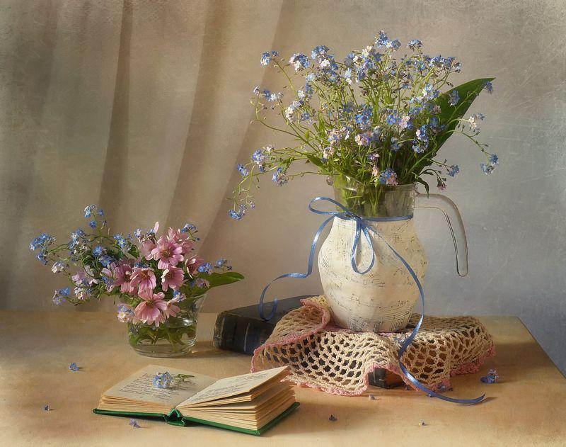 цветы, весна, букет, книга, вечер, свет Романтичным вечеромphoto preview