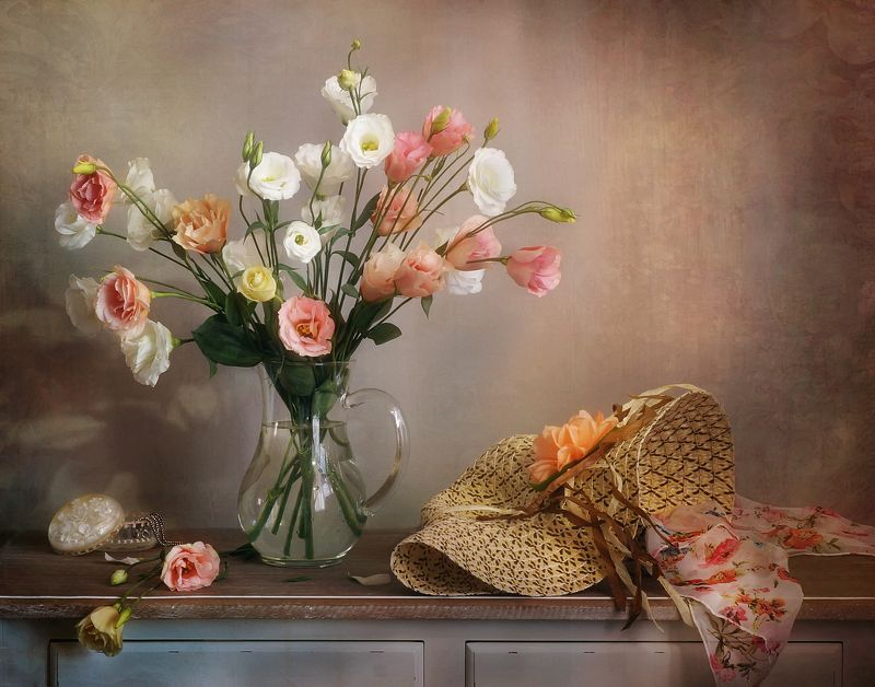 цветы, букет, прованс, лето, шляпка Пришла..photo preview
