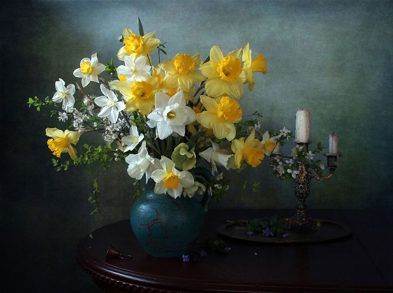 натюрморт, цветы, марина филатова Снопы лучей заката и рассветаphoto preview
