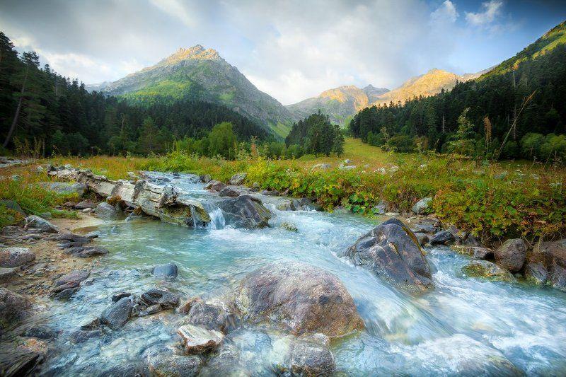 архыз, кавказ, поход, лето Утро Архызаphoto preview