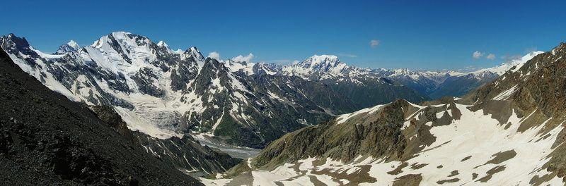 приэльбрусье, панорама, горы, кавказ, койавган, Вид с перевала Койавганаушphoto preview