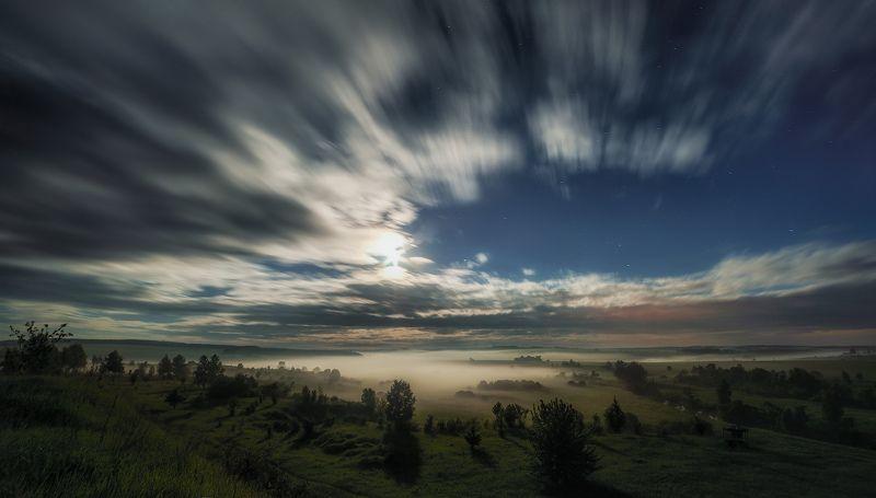 бежин луг, тургенево, тургенев, тула, чернь, ночной пейзаж Цвет июньской ночи. Бежин лугphoto preview